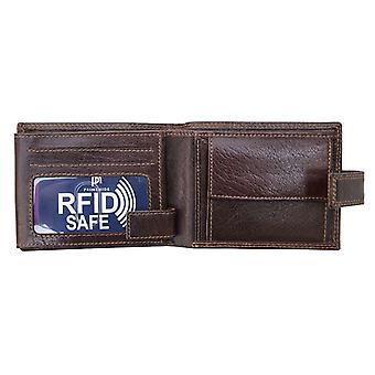 Primehide Leder Herren Brieftasche RFID Blockieren Gents Karte Halter Notecase 4154