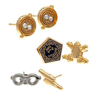 Harry Potter Gold Plated Earring Set