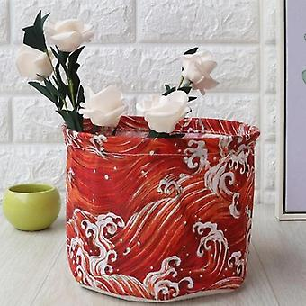 Small Laundry Basket/bag For Dirty Clothes - Toy Storage Barrel Sundries Household Organizers Folding Storage Basket
