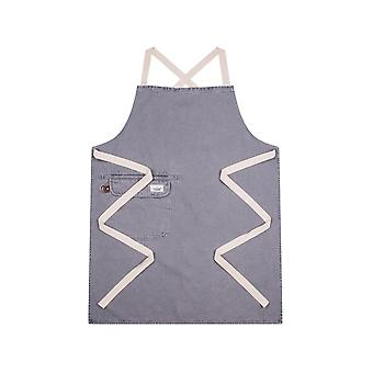 Chorlton denim bib apron - steel grey