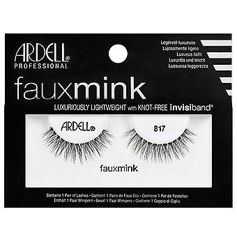 Ardell Faux Mink Lightweight Eyelashes - Black 817 with Knot Free Invisiband