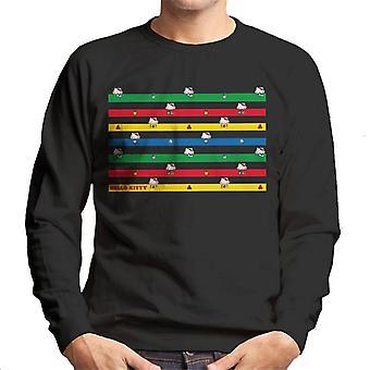 Hello Kitty Veelkleurige Montage Men's Sweatshirt