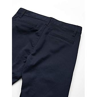Essentials Girl's Slim Uniform Chino Pants, Navy Blue, 8(S)