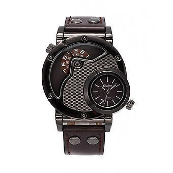 Dual Time Waterproof Quartz Watches For Mens