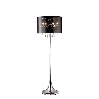 Lampada da pavimento con Chrome Shade 4 Light Polished Chrome, Cristallo