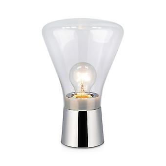 1 Light Indoor Table Lamp Chrome, E27
