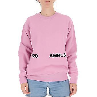 Ambush 12112067pink Women's Pink Cotton Sweatshirt