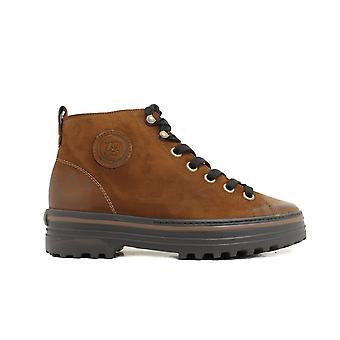 Paul Green 4018-03 Brown Nubuck läder Womens Ankelstövlar