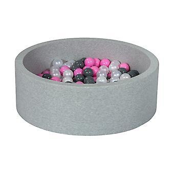 Poço de bola 90 cm com 200 bolas mãe de pérola, roxo claro e cinza