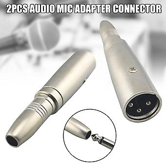 Female To Male Jack Audio Mic Adapter Connector Accessories