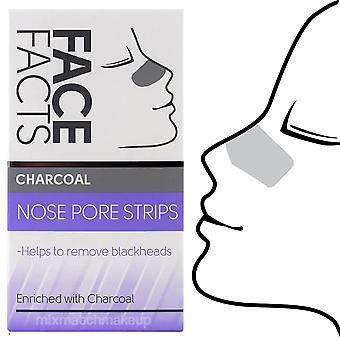 Face Facts Charcoal Deep Cleansing Nose Pore Strips Removes Blackheads Unclog Pores