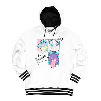 Pokemon Characters Group PopArt Hoodie Female XX-Large White/Black