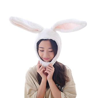 Halloween Party Cosplay Women Long Bunny Ears Cap, Cosplay Beanie Plush Hat