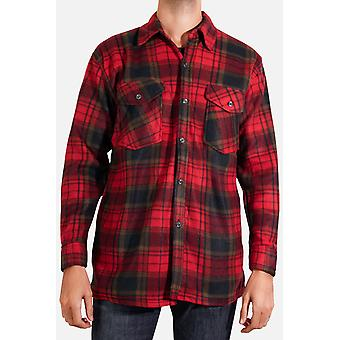 Straight-cut fleece shirt