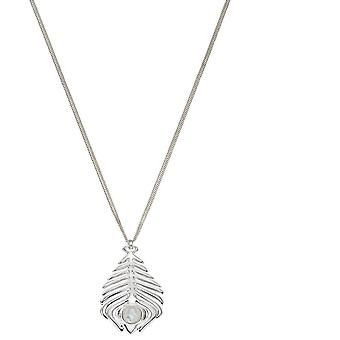 عناصر الفضة الاسترليني الفضة الطاووس ريشة قلادة P4837W