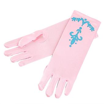Kid Flower Girls Snow Princess Cartoon Long Gloves