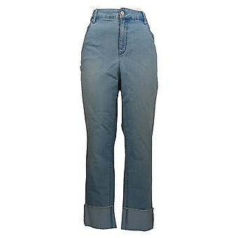 Martha Stewart Femmes-apos;s Jeans Menotté Girlfriend Ankle Blue A365223