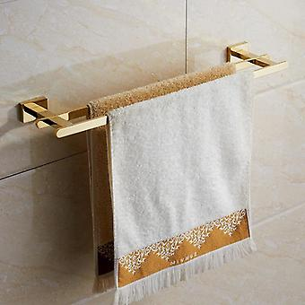 Stainless Steel Golden Towel Rack Hardware Set -robe Hooktoilet Brush Cup Holder Soap Dish Bathroom Accessories
