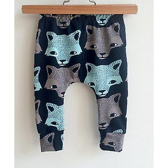 Fashion Baby Pants Trousers Cartoon Animal Wolf Prints Casual Cotton Harem