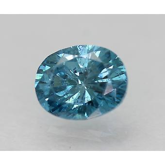 Cert 0,28 Karat Himmel blau VS2 Oval verbessert natürliche lose Diamant 4.5x3.62mm 2VG