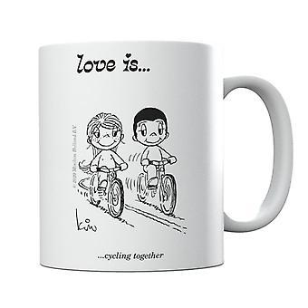 Kærlighed er cykling sammen Krus