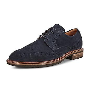 ECCO 640314 Vitrus I - Men & apos;s Lace-up Brogue Shoes in Navy Suede