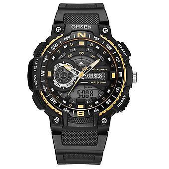 OHSEN AD1705 Digitaalinen kello Dual Display Monitoiminen LED Sport Uinti Miehet