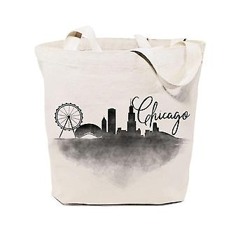 Borsa tote in tela in cotone Chicago