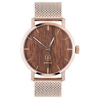 Reloj BeWooden Dawn - Oro rosa/marrón claro