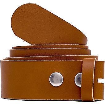 Change belt Genuine leather without buckle 4cm width