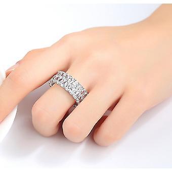 Moda de lux Silver Color Love Inel de logodna Vintage Inele de nunta