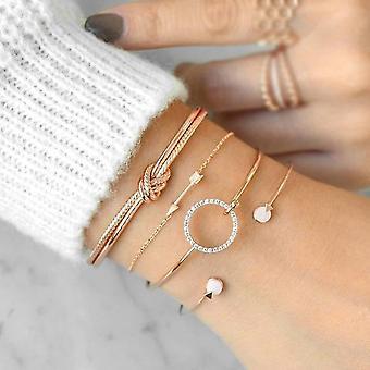 كريستال متعددة الطبقات الأساور قابل للتعديل لاسو جراد البحر سوار مجوهرات