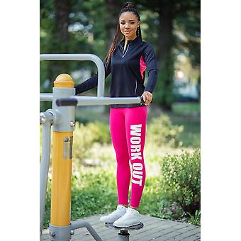 Work Out Printed Full Length Cotton Active Pant
