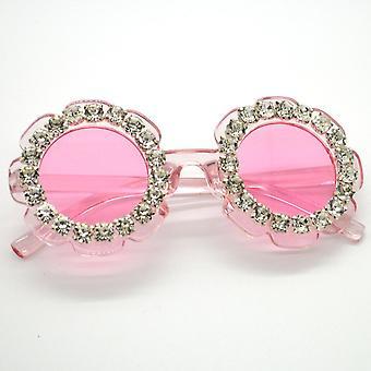 Small Round Handmade Diamond Eyewear Summer Beach Eyeglasses