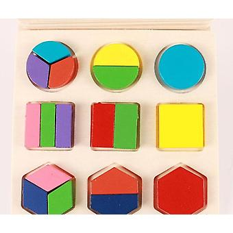 Geometric Shape And Color Matching-wooden 3d Puzzles