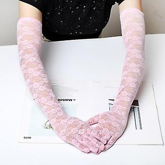Elegant Ultra-thin Long Summer Driving, Cycling Sexy Black Sunscreen Gloves