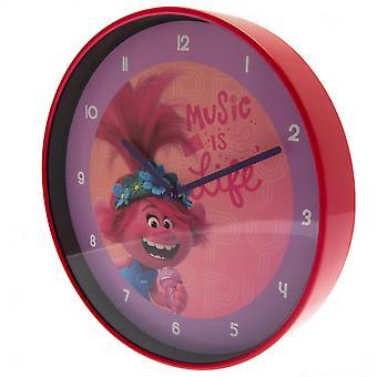 Trollen World Tour Poppy Wall Clock