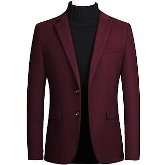 Men's Woolen Formal Wedding Suit Jacket Men Business Casual Slim Blazers