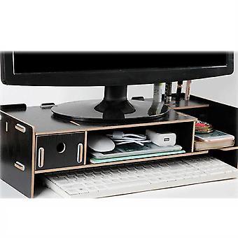 Holz Computer Monitor Standhalter Laptop Schreibtisch und Organizer Rack Lagerung
