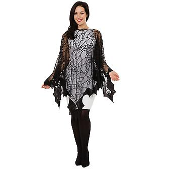Bristol Novelty Unisex Adults Spider Web Bat Fishnet Cape