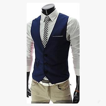 Hombres Slim Fit Hombres Traje Chaleco Hombre Chaqueta Gilet Homme Casual Mangalessmal