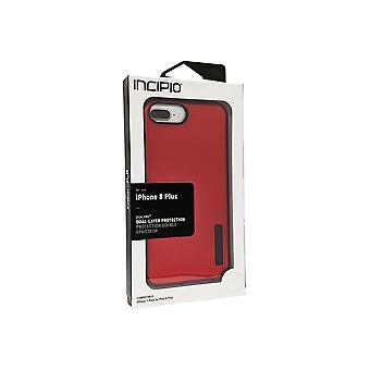 Incipio DualPro Case para iPhone 8 Plus/7 Plus/6s Plus/6 Plus - Vermelho/Preto