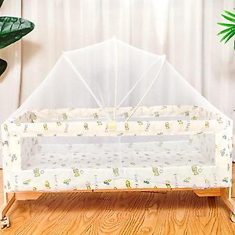 Solid Wood Baby Cradle Bed