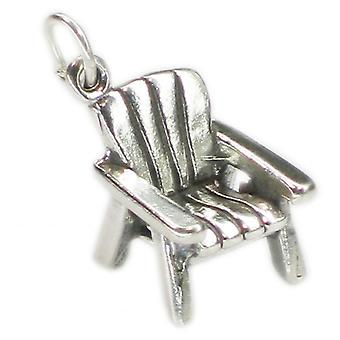 Adirondack Chair Sterling Silver Charm .925 X 1 Chairs Charms - 1423