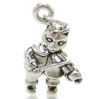 Hey Diddle Diddle Sterling Silver Charm .925 X 1 Nursery Rhyme Charms - 1754