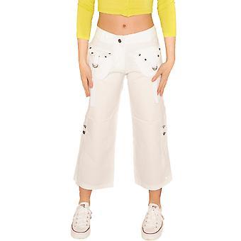 Pantalón corto ligero recortado - blanco