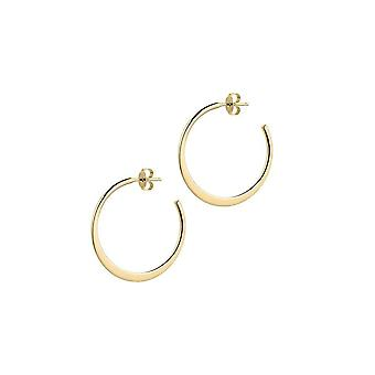 The Hoop Station Graduata Gold Plated 30mm Hoop Earrings H216Y