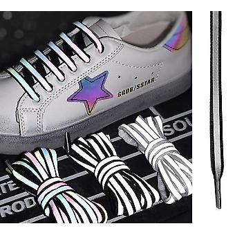 Shoe Laces Luminous Reflective (Black) Glow In The Dark Unisex