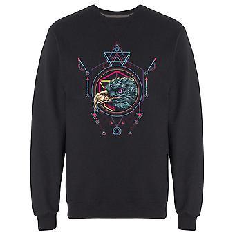 Eagle Head Sacred Geometry Style Sweatshirt Men's -Image by Shutterstock