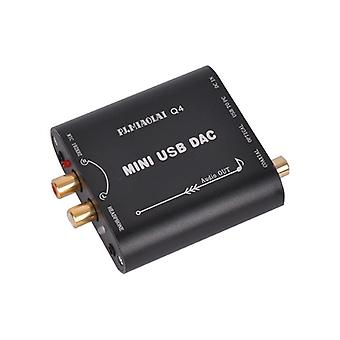 PJ.MIAOLAI Q4 CM108AH HIFI Fiber Coaxial Fever Decoder DAC Computer External USB Audio Card